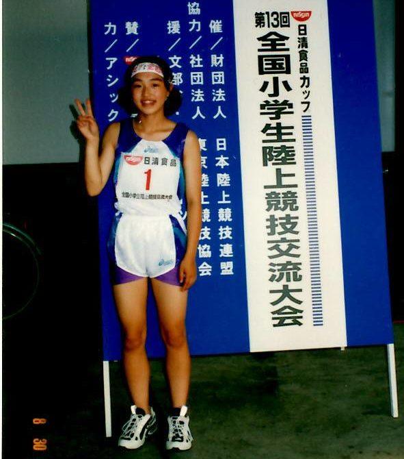小学6年生で初めての全国大会に出場 100m12秒92で準優勝