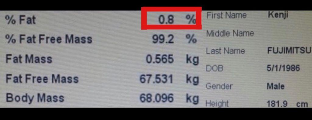 「体脂肪率0.8%」の驚異の肉体を誇る藤光選手